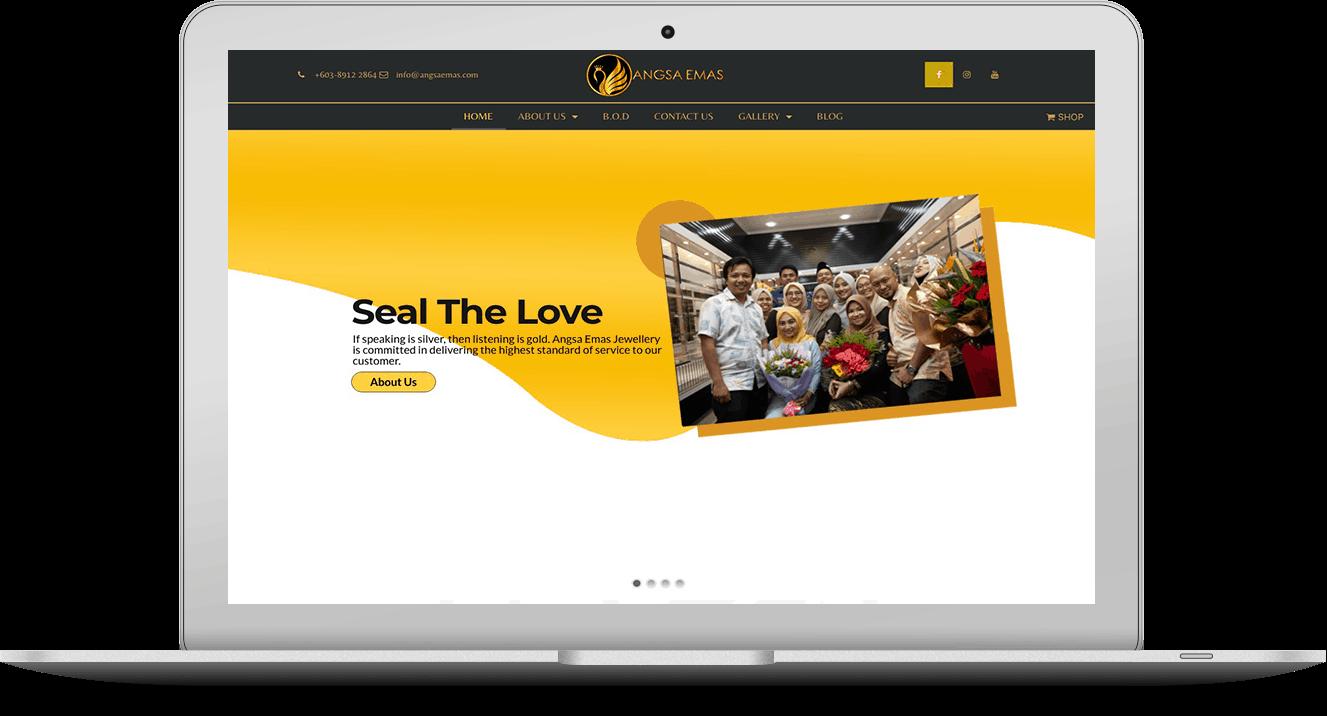 Website Angsa Emas