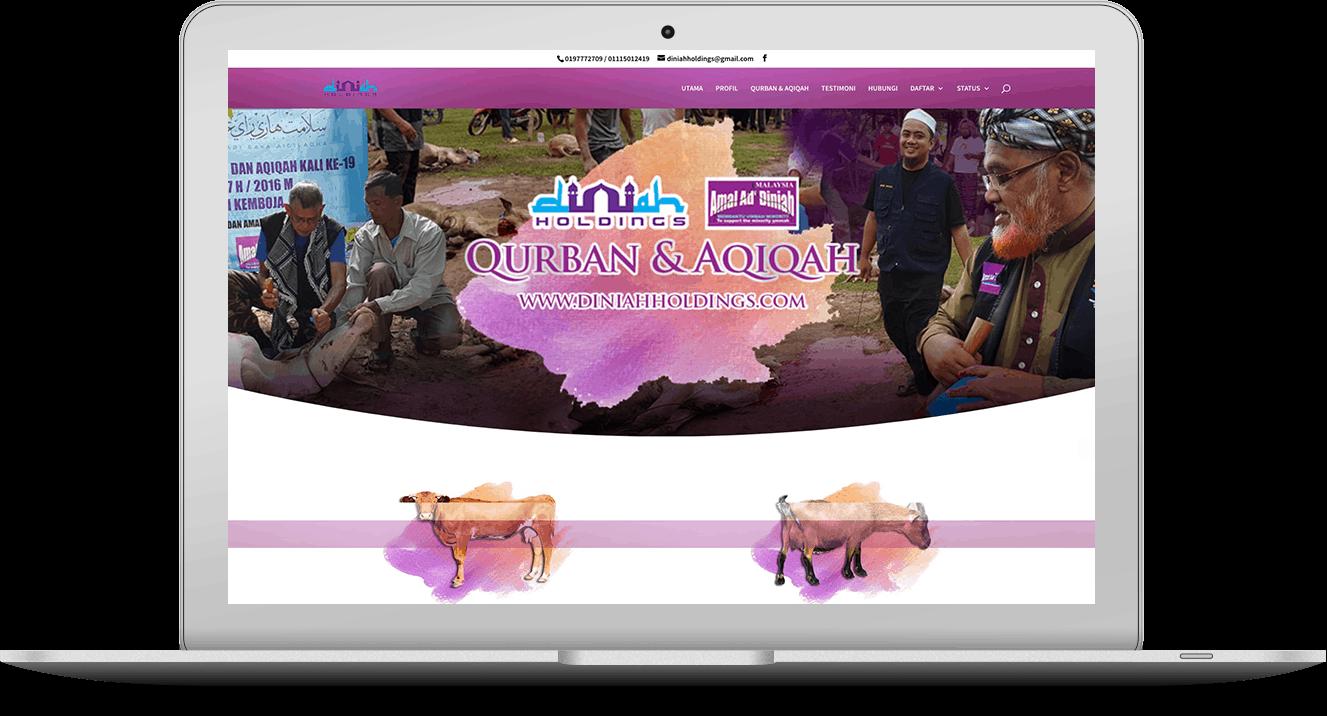 website Diniah Holdings