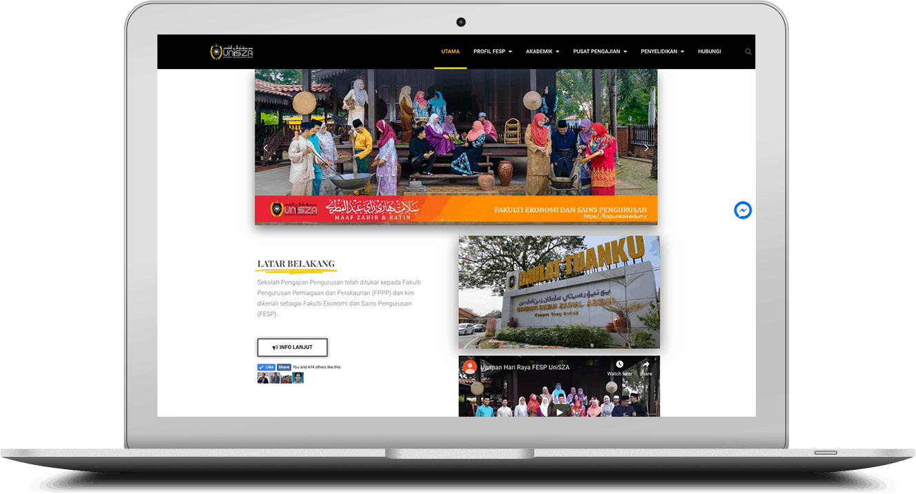 website FESP Unisza