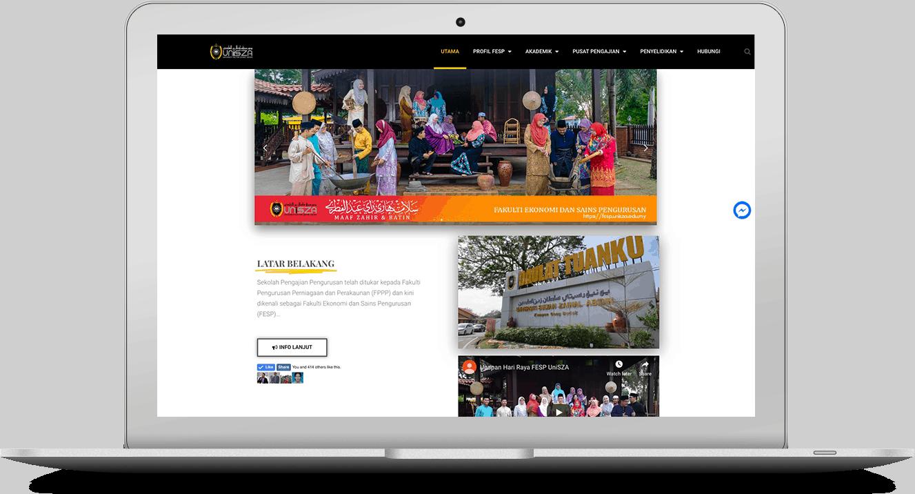 website FESP Unisza