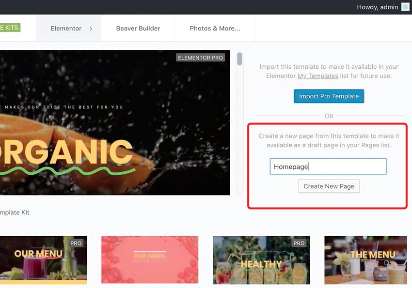buat website menggunakan elementor